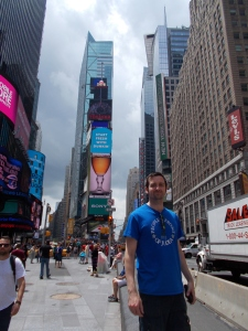 Me in Times Square. This was on the first full day after we arrived.