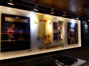 Inside Madison Square Garden. I was well giddy when I saw this. Memorabilia from the first Wrestlemania held at the Garden.