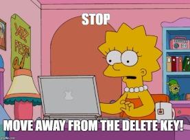 image delete key